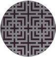 rug #1223355 | round purple check rug