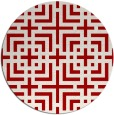 rug #1223359 | round red check rug