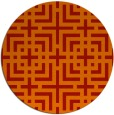 rug #1223363 | round red check rug