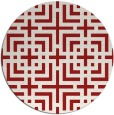 rug #1223367 | round red rug