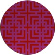 rug #1223371 | round red check rug