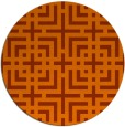 rug #1223375 | round red-orange check rug