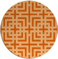 rug #1223379 | round red-orange check rug