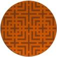 rug #1223383 | round red-orange check rug