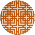 rug #1223387 | round red-orange check rug