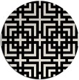 rug #1223391 | round white check rug