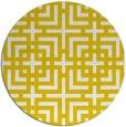 rug #1223395 | round white check rug