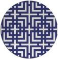 rug #1223399 | round white check rug