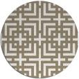 rug #1223415 | round white geometry rug