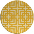 rug #1223419 | round yellow check rug