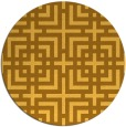 rug #1223431 | round light-orange check rug