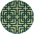 rug #1223435 | round yellow check rug