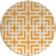 rug #1223463 | round light-orange check rug