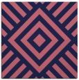 rug #1224387 | square blue-violet stripes rug