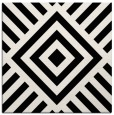 rug #1224443 | square black stripes rug