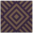 rug #1224547 | square mid-brown stripes rug