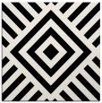 rug #1224587 | square black stripes rug