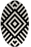 rug #1224667 | oval white graphic rug