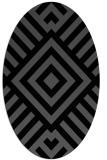 rug #1224671 | oval black geometry rug