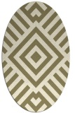 rug #1224690 | oval stripes rug