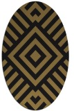 rug #1224691 | oval brown stripes rug
