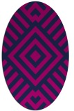rug #1224699   oval blue graphic rug