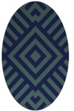 rug #1224703 | oval blue-green rug