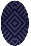 rug #1224747   oval blue-violet stripes rug