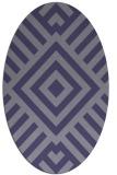 rug #1224751 | oval blue-violet stripes rug