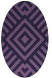 rug #1224759 | oval purple stripes rug