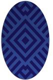 rug #1224763 | oval blue-violet popular rug