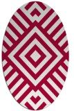 rug #1224779 | oval red stripes rug