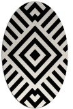 rug #1224811 | oval black graphic rug