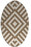 rug #1224823 | oval beige stripes rug