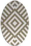 rug #1224827 | oval white stripes rug