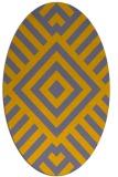 rug #1224837 | oval geometry rug