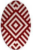rug #1224881 | oval geometry rug