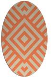 rug #1224883 | oval beige graphic rug