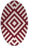 rug #1224895 | oval pink popular rug