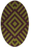 rug #1224911 | oval purple rug