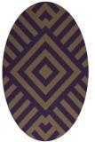 rug #1224915 | oval purple graphic rug