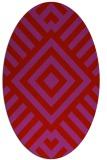 rug #1224935 | oval red stripes rug