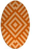 rug #1224943 | oval red-orange graphic rug