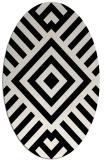 rug #1224955 | oval white stripes rug