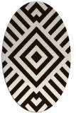 rug #1224967 | oval brown stripes rug