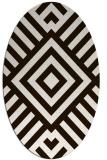rug #1224968 | oval stripes rug