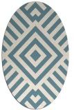 rug #1224975 | oval white stripes rug