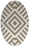 rug #1224979   oval white stripes rug