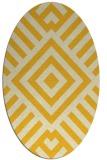 rug #1224983 | oval yellow stripes rug