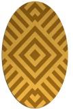 rug #1224995 | oval light-orange stripes rug